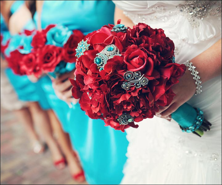 15 Turquoise Wedding Bouquets For Your D-Day