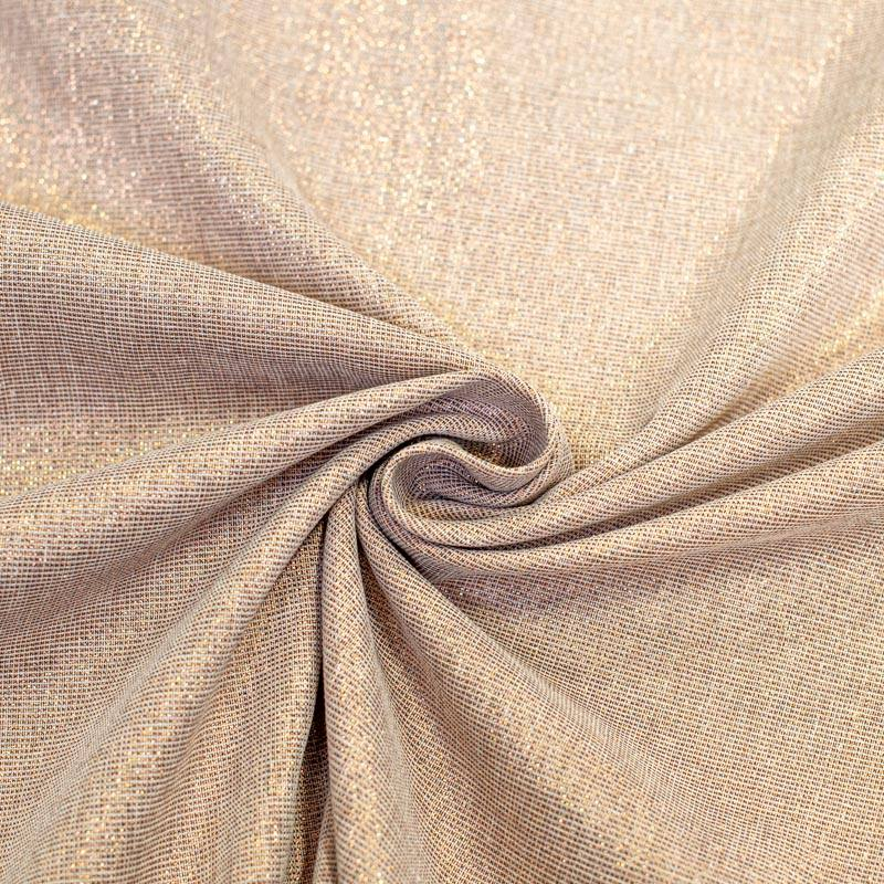 tissu aspect lin paillete cuivre grande largeur