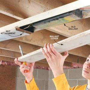 How to Replace a Fluorescent Light Ballast   The Family Handyman Photo 1  Remove the bulbs and fixture cover