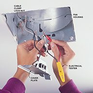 how to install a bathroom fan diy