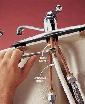 replace a sink sprayer and hose diy