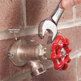 how to repair a noisy outdoor faucet diy