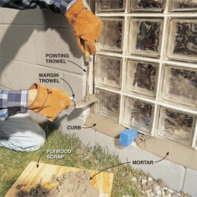 Installing Glass Block Windows In Basement The Family