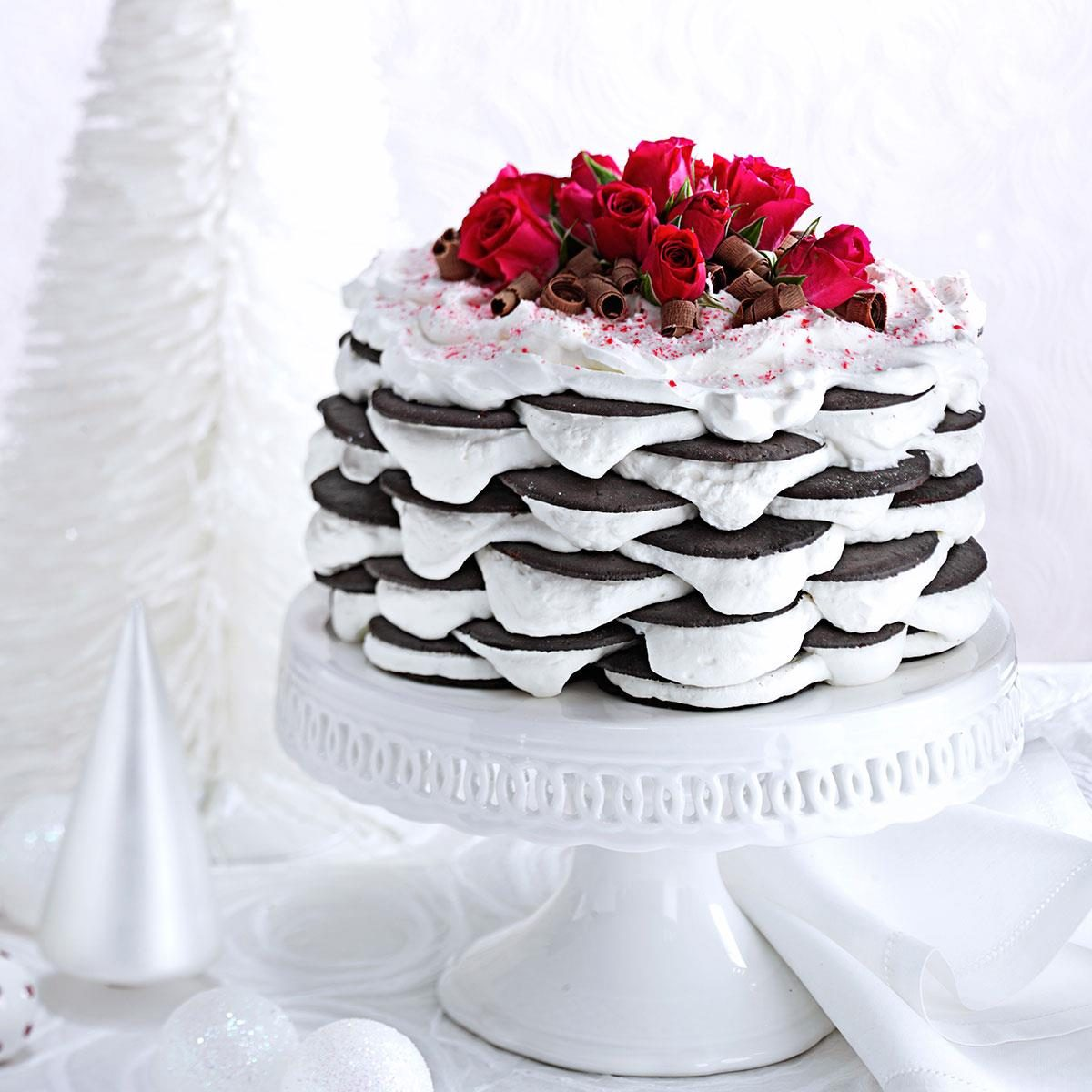 Layered Peppermint Icebox Cake Recipe