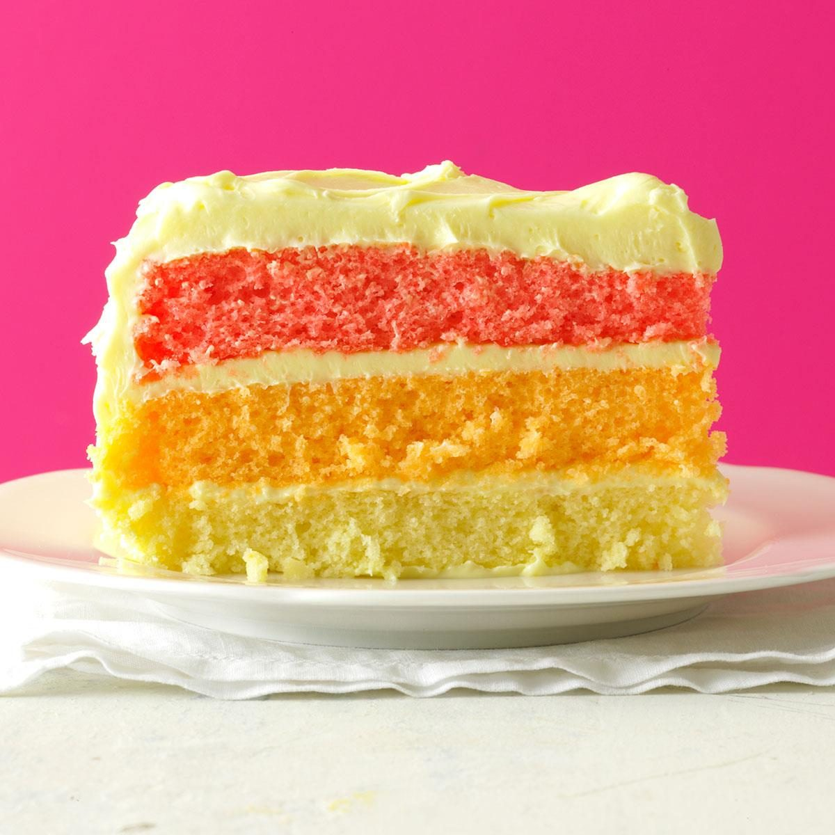 Rainbow Layer Cake Recipe Taste Of Home