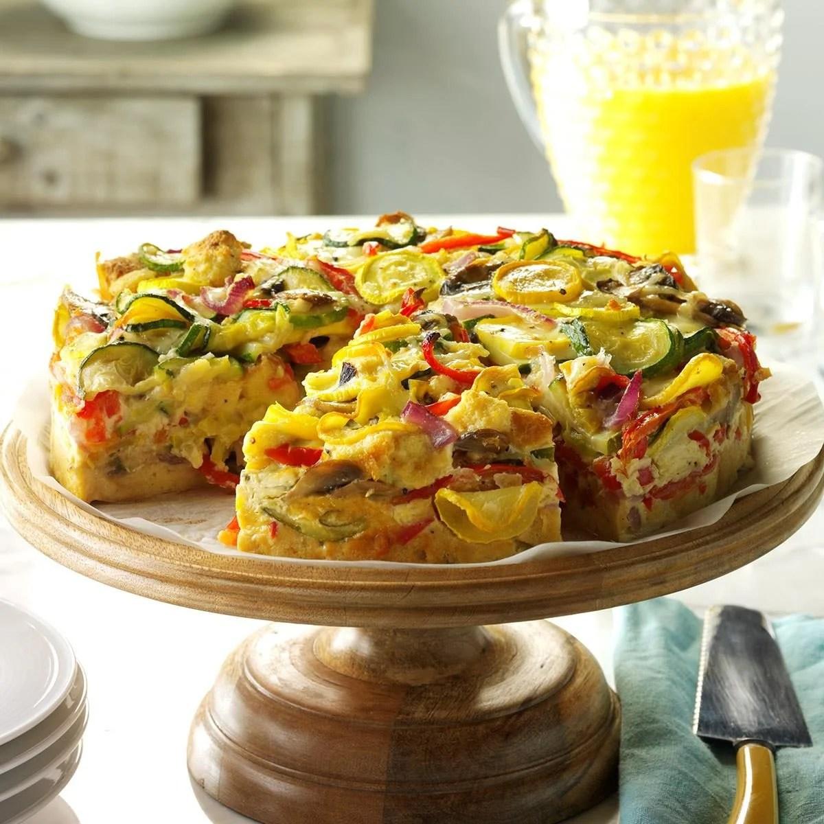 Veggie Packed Strata Recipe Taste Of Home