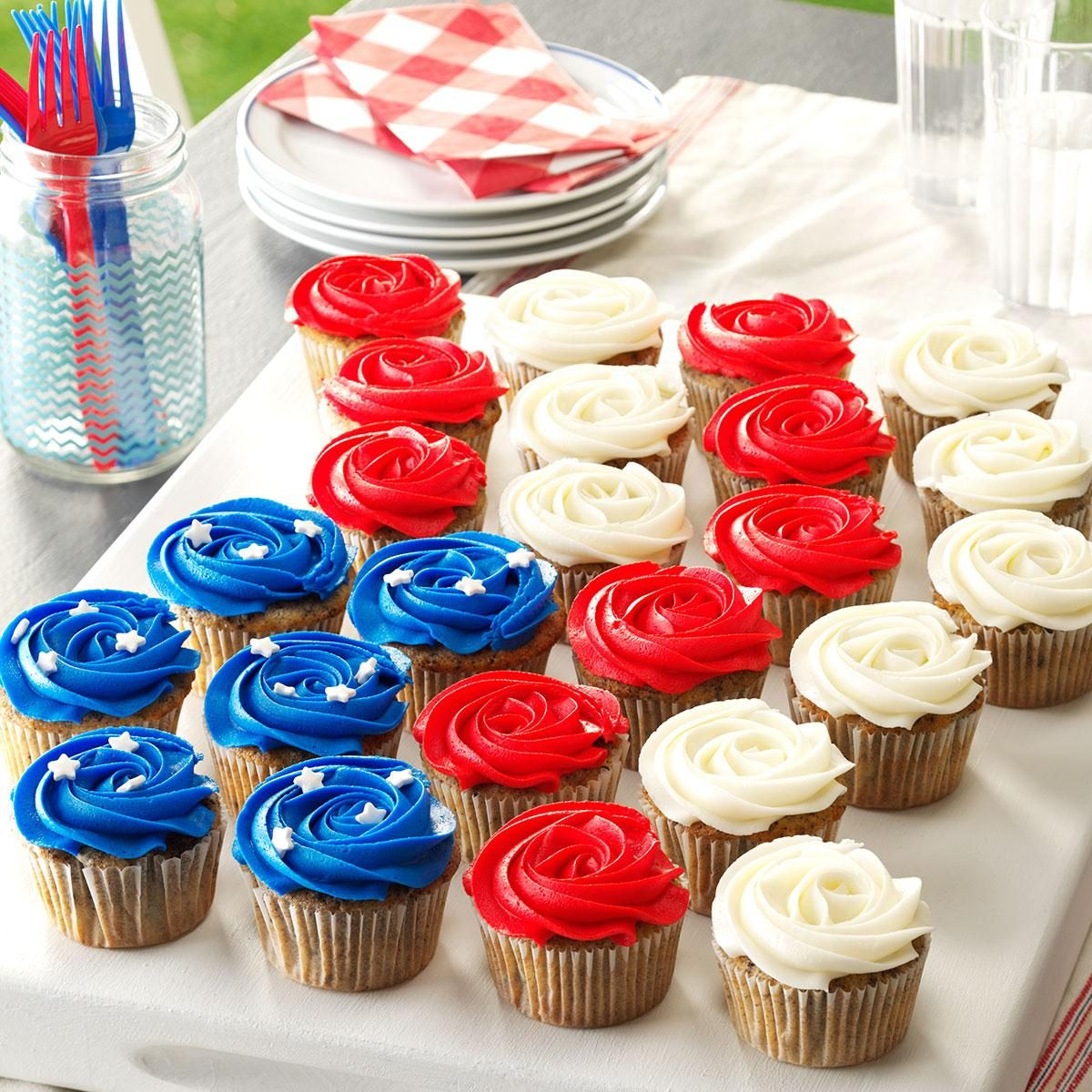 Patriotic Cookie Amp Cream Cupcakes Recipe