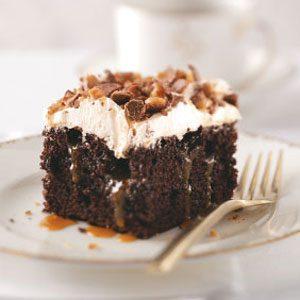 Toffee Poke Cake Recipe Taste Of Home