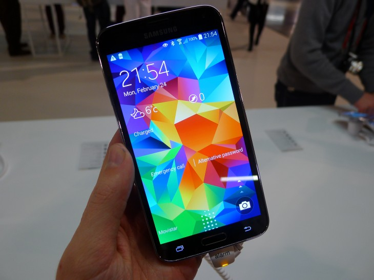 P1050128 730x547 Samsung Galaxy S5 hands on: Is the fingerprint scanner and heart rate monitor just a gimmick?