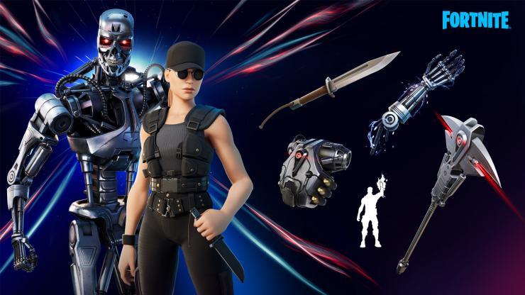 Terminator fortnite tienda sarah connor