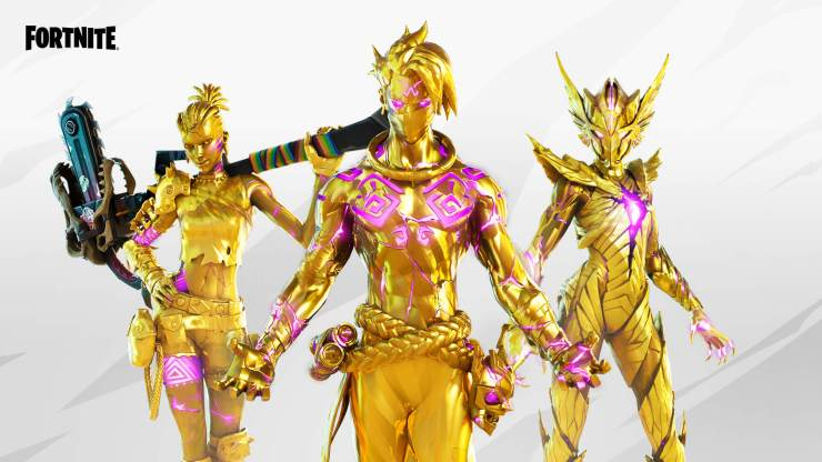 reliquia Estilos dorados de Tarana, Raz y Asesina de La Aguja de la temporada 6 de Fortnite