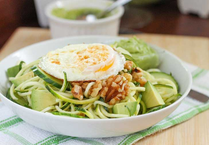 Zucchini-Noodle-Salad-with-Creamy-Avocado-Dressing-Eat-Spin-Run-Repeat
