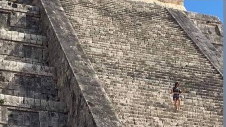 f608x342 127773 157496 0 - Turista genera indignación al escalar la pirámide de Chichén Itzá. Quería cumplir una promesa, dicen