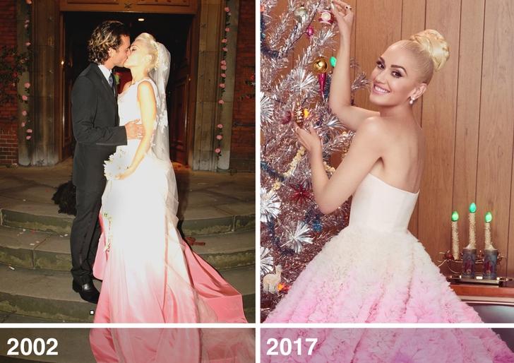 4 60 - 10 famosas que desempolvaron sus antiguos vestidos de novia y los volvieron a usar
