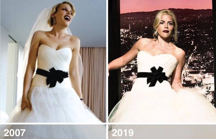 6 53 - 10 famosas que desempolvaron sus antiguos vestidos de novia y los volvieron a usar