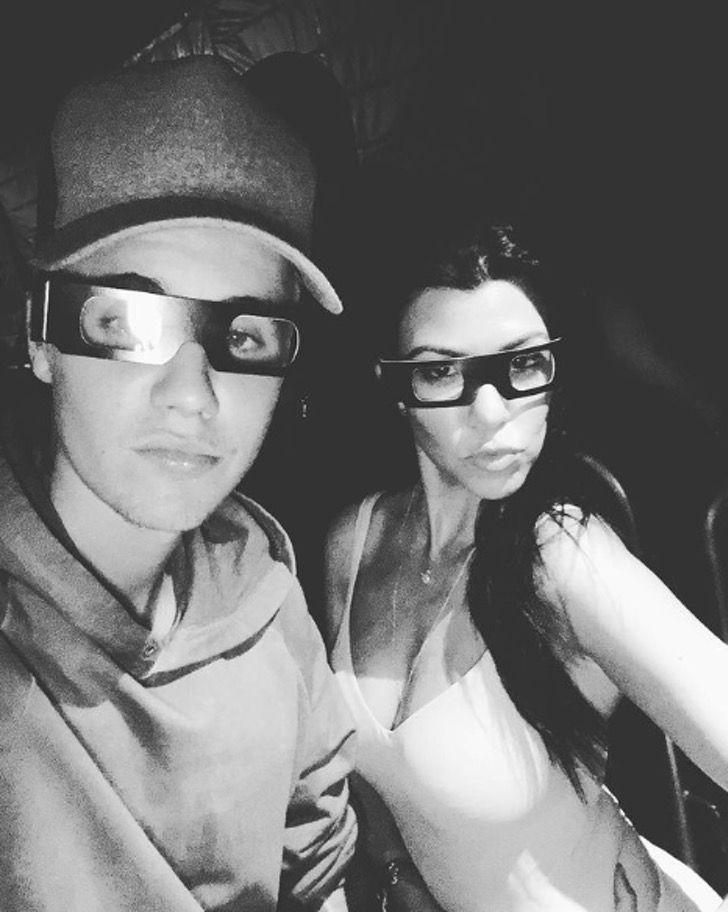 inesperadas amistades12 - 15 extrañas amistades entre los famosos. Justin Bieber y Kourtney Kardashian son íntimos