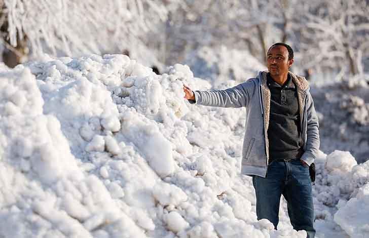 cataratas del niagara estados unidos022 - El frío sigue castigando sin piedad a Estados Unidos. Ahora se congelaron las cataratas del Niágara