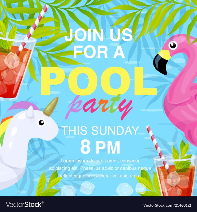 Pool Party Invitation Design Royalty