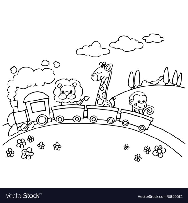 train coloring # 21