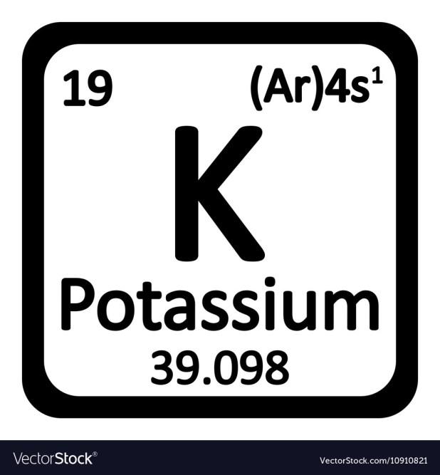 Diagram Representation Of The Element Potassium Stock Manual Guide