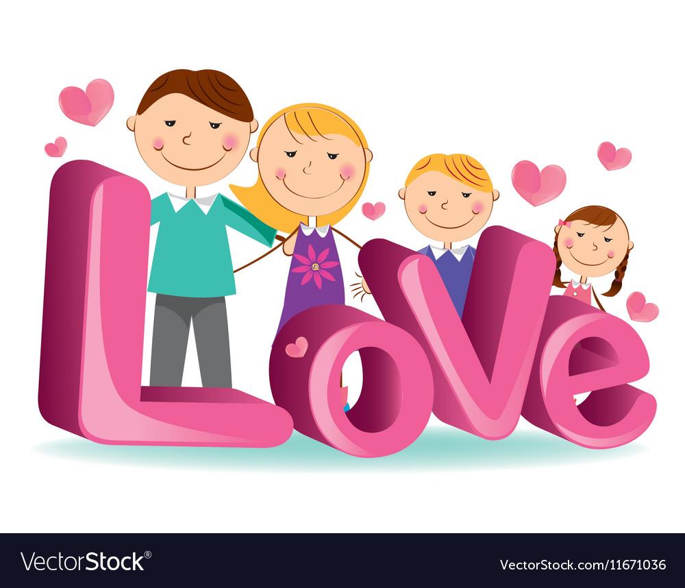Download Family love 4 Royalty Free Vector Image - VectorStock