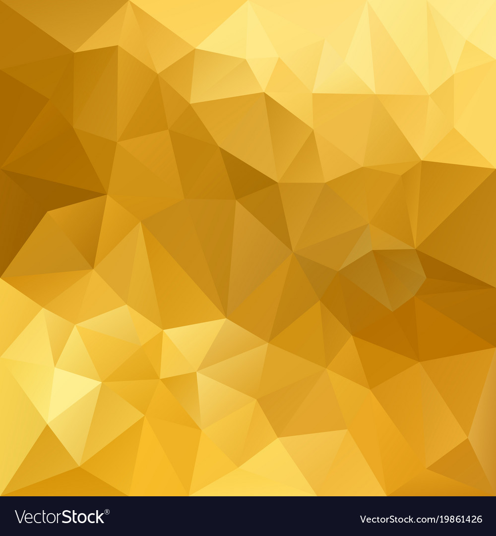 Polygonal Square Background Gold Yellow Royalty Free Vector