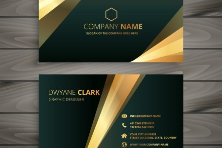 Elegant premium golden business card template Vector Image