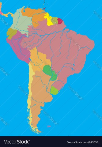 Political map of South America Royalty Free Vector Image Political map of South America vector image