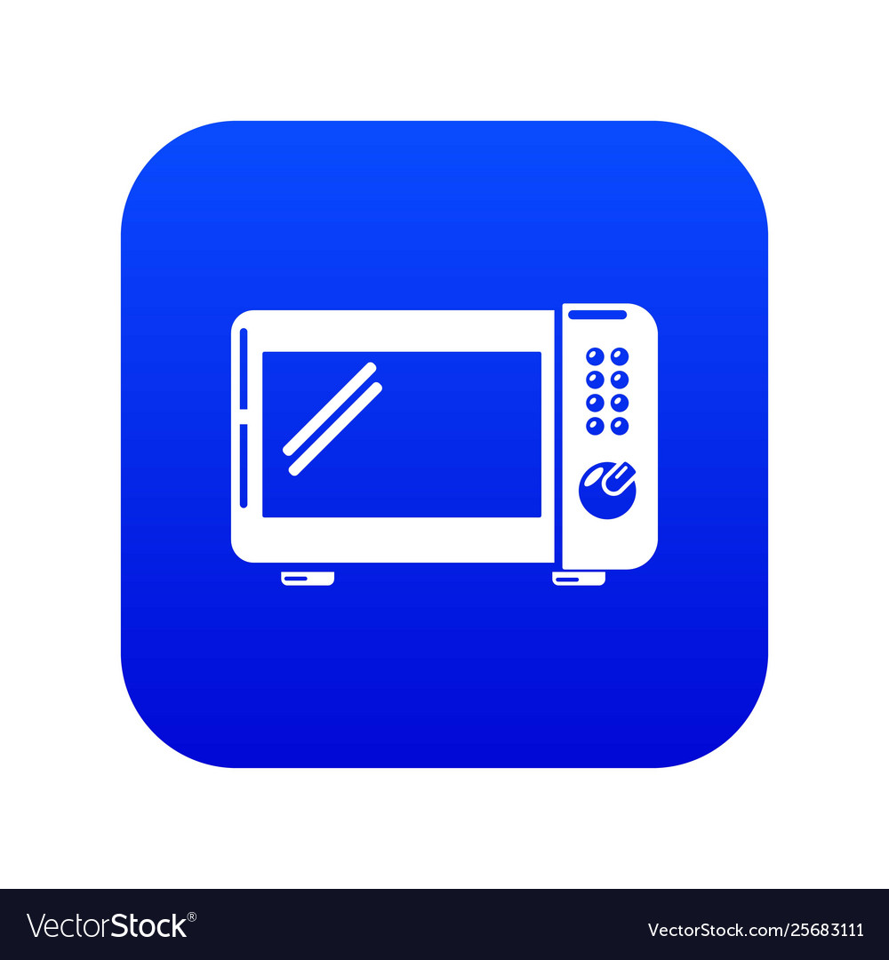 microwave oven icon blue royalty free vector image