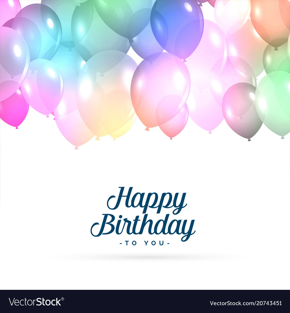 Colorful Happy Birthday Balloons Background Vector Image