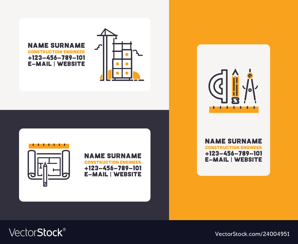 Design House Construction Building Construction Visiting Card