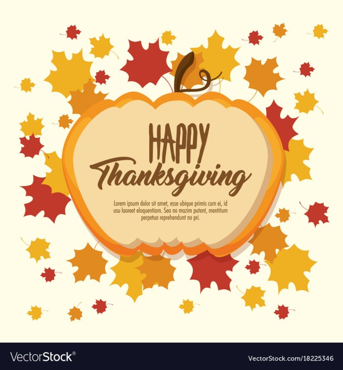 Happy thanksgiving day greeting card Royalty Free Vector