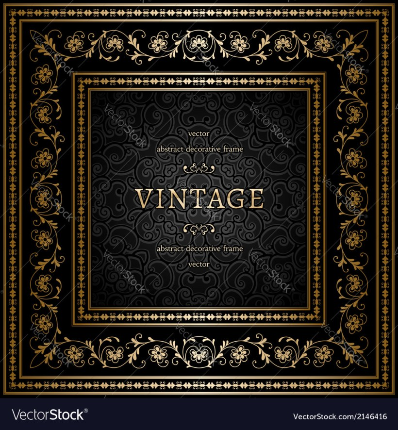 85f564190b33 Square Gold Frame Royalty Free Vector Image Vectorstock