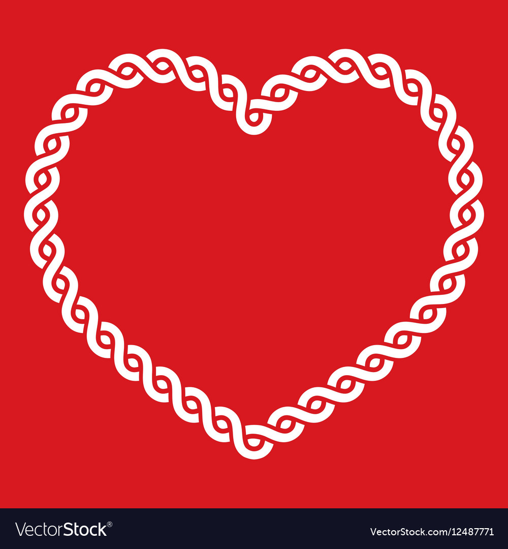 Download Celtic knot pattern red heart shape - love concept