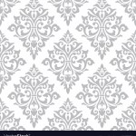Seamless Damask Stencil Pattern Wall Background Vector Image
