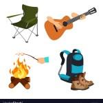 Cartoon Se Camp Chair Guitar Marshmallow Backpack
