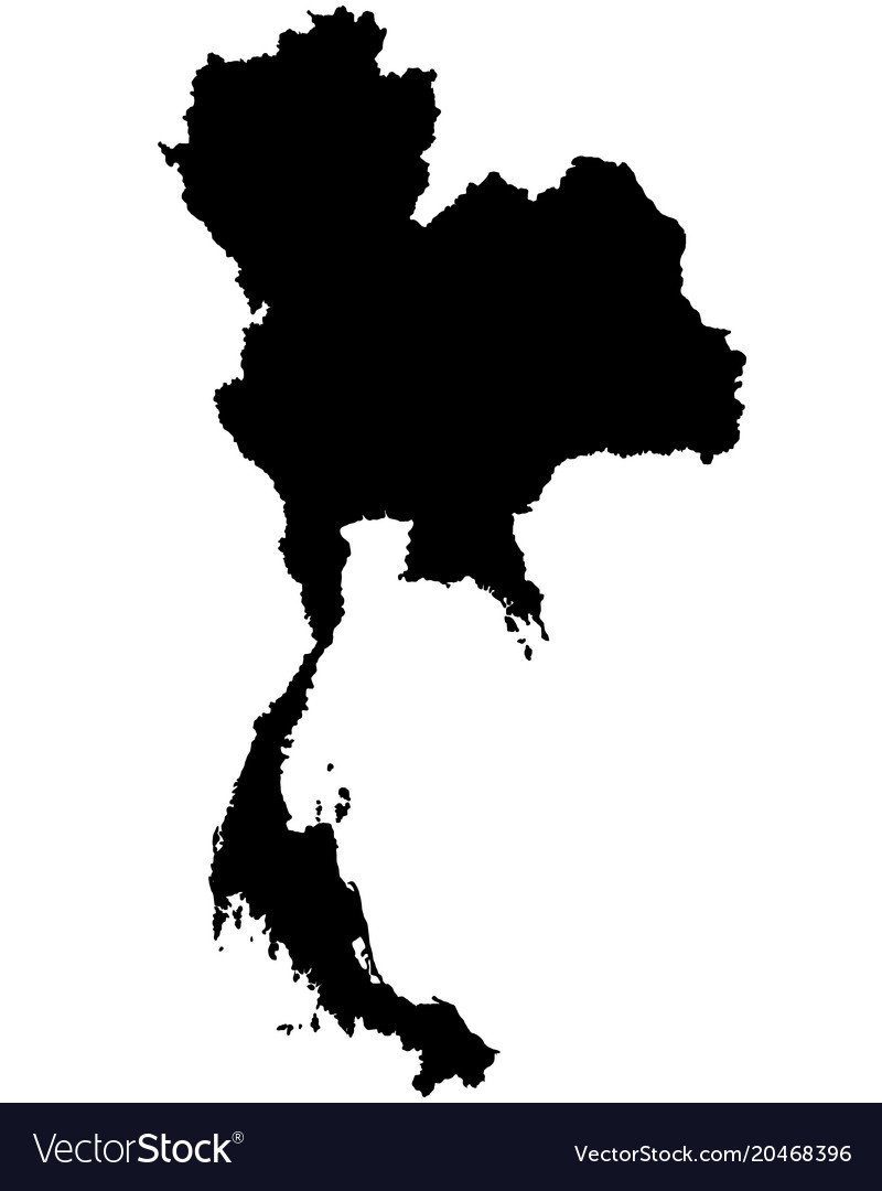 Thailand map outline Royalty Free Vector Image Thailand map outline vector image