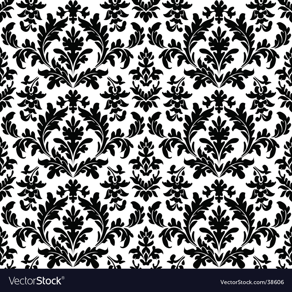 Floral Wallpaper Seamless Royalty Free Vector Image