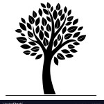 Black Tree Silhouette Royalty Free Vector Image