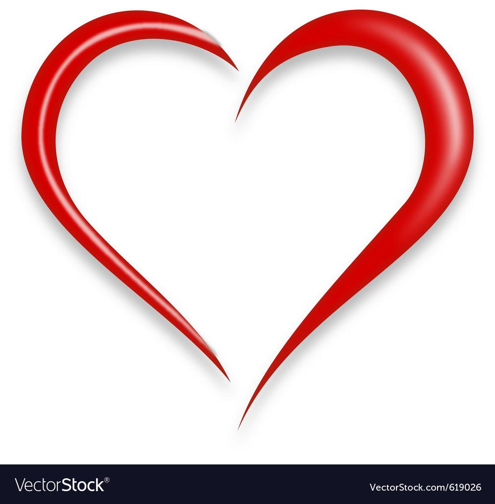 Download Red love heart Royalty Free Vector Image - VectorStock