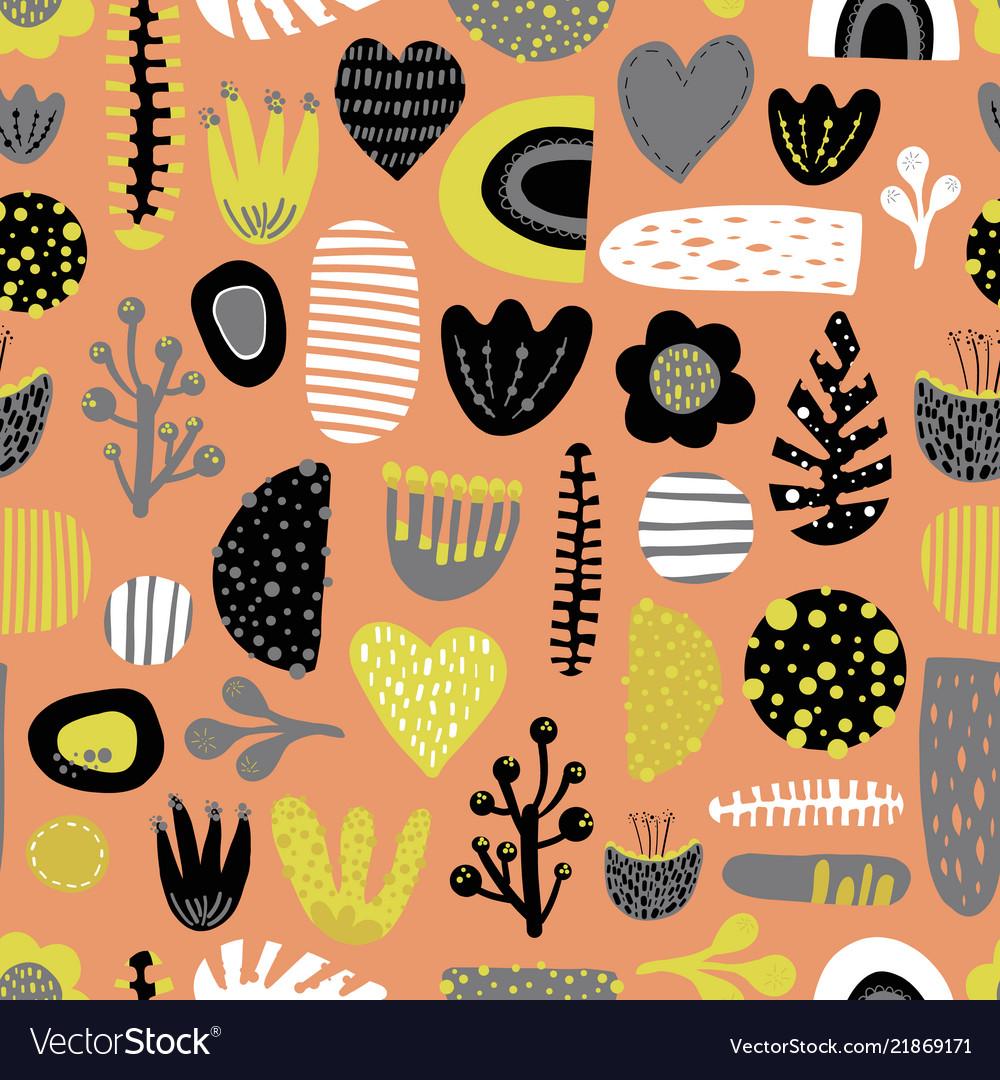 cute scandinavian kids seamless design tile vector image