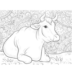 Cow Coloring Page Vector Images Over 350