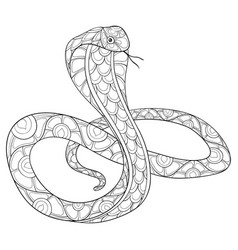 Coloring Page Snake Vector Images Over 170