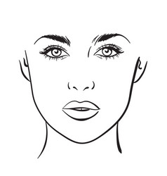 Make Up Face Charts Vector Images 39