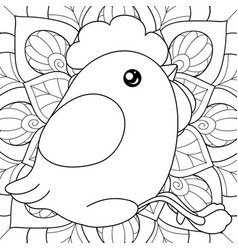 Chicken Coloring Page Vector Images Over 620