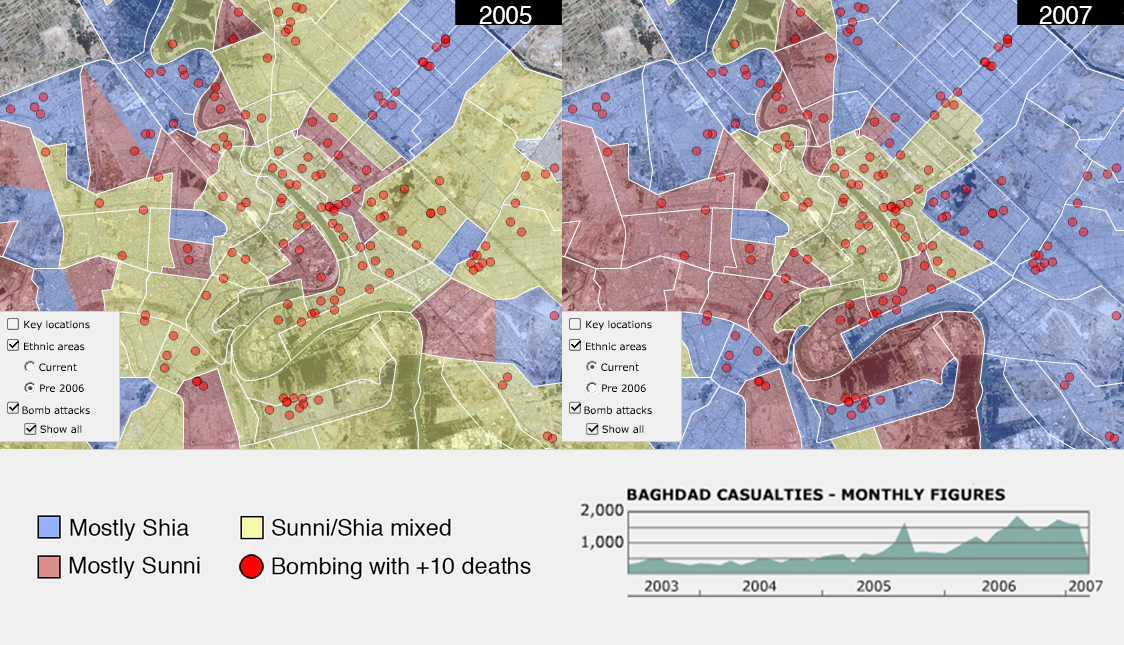 The ethnic cleansing of Baghdad during the Iraq War