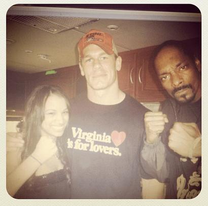 #TBT with Sasha Banks, John Cena (?) and Snoop Dogg ...