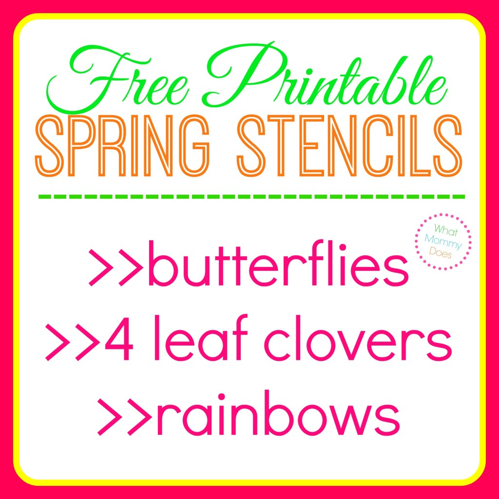 Free Printable Butterfly Stencils Four Leaf Clover