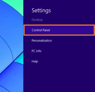 Windows 8 Sleep - Панель чудо-кнопок - Настройки - Панель управления - WindowsWally
