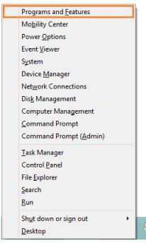 Autopico.exe - Windows Key + X - Программы и компоненты - Windows Wally